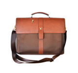 GB 3187حقيبة كتف رجالي- لون بني