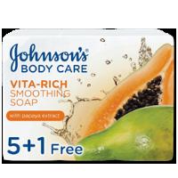 صابون جونسون بخلاصة البابايا125 غرام 5+1 مجاناً