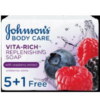 صابون جونسون بخلاصة التوت 125 غرام 5+1 مجاناً