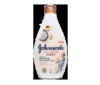 جونسون صابون سائل الاستحمام بخلاصة  اللبن والخوخ وجوز الهند 400 مل