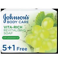 صابون جونسون بخلاصة زيت بذور العنب 125 غرام 5+1 مجاناً
